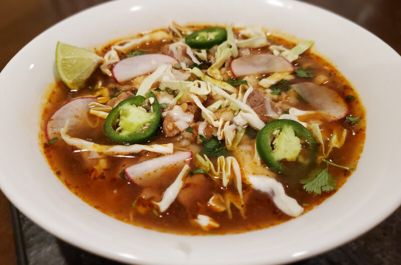Pozole (Mexican Pork and Hominy Soup)
