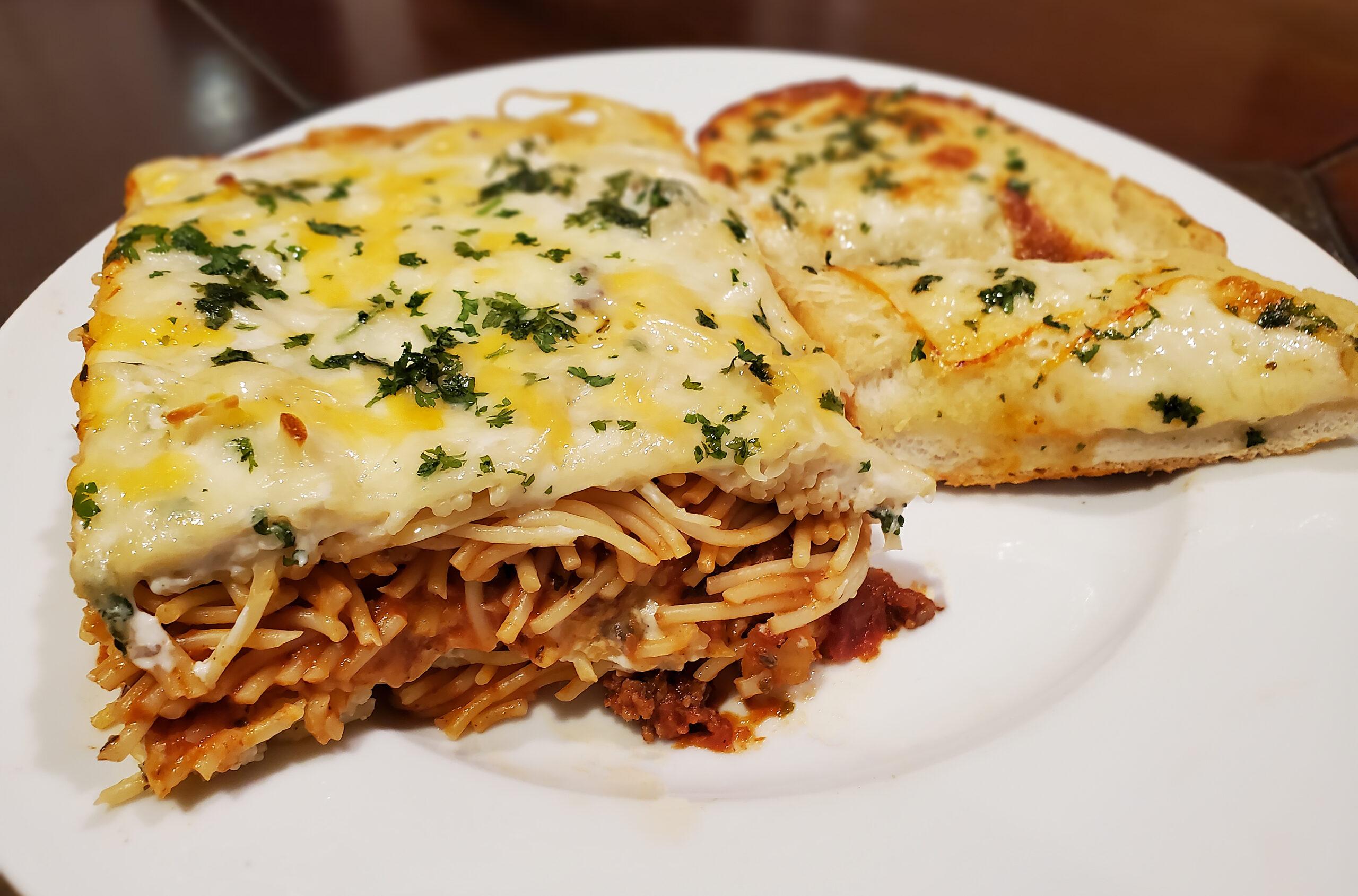 Creamy Spaghetti Casserole Plate 1