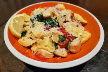 Lemon, Chicken, and Spinach Tortellini