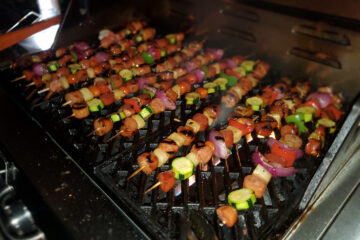 Sausage Pineapple Kebabs