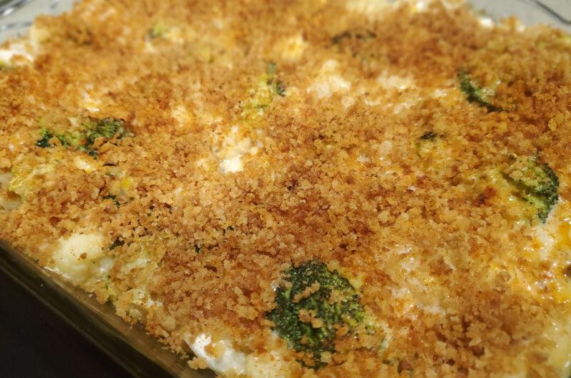 Cheesy Broccoli Cauliflower Casserole